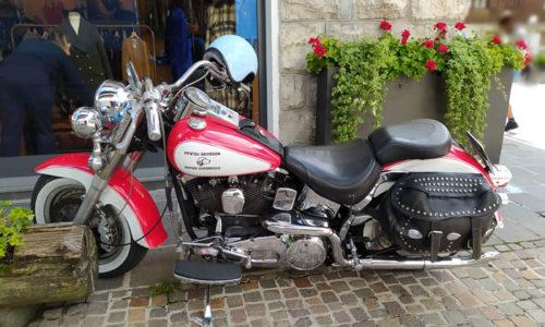 Harley Davidson a Cortina d'Ampezzo